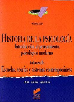 Portada del libro 9788477384823 Historia de la Psicología, Vol. 2