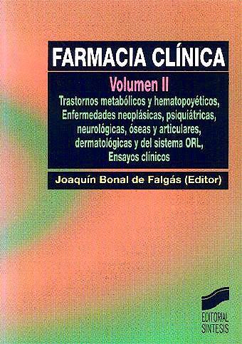Portada del libro 9788477386445 Farmacia Clinica, Vol. 2