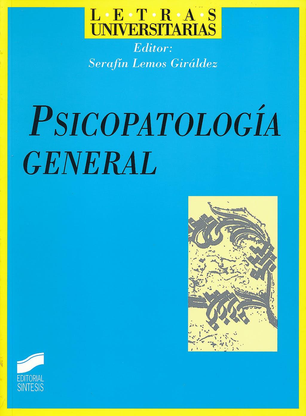 Portada del libro 9788477387879 Psicopatologia General