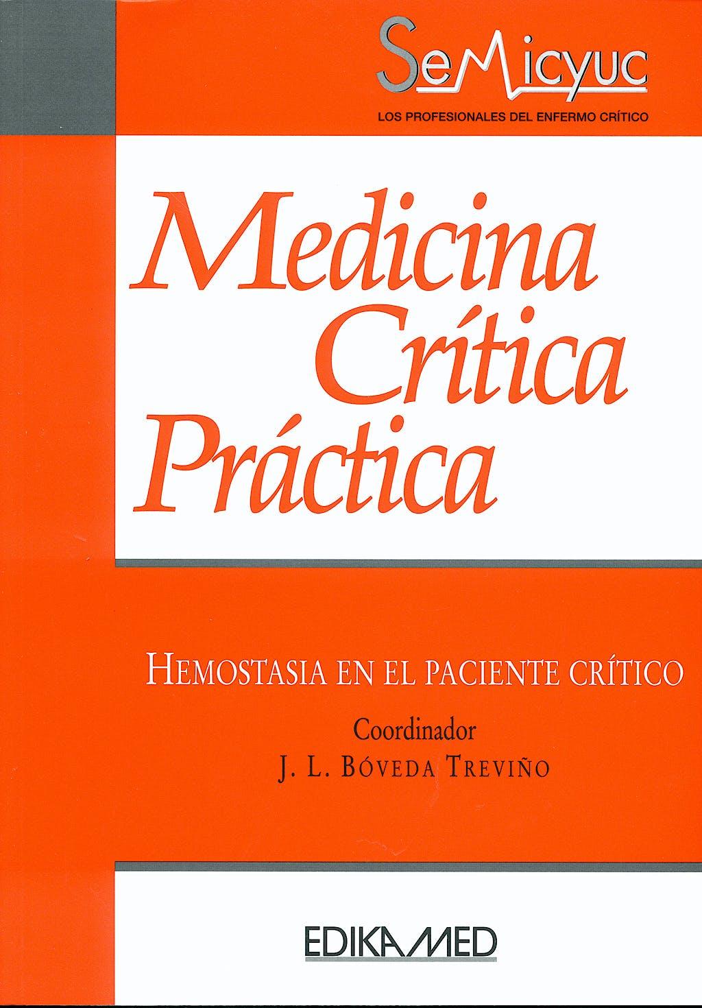 Portada del libro 9788478775385 Medicina Critica Practica. Hemostasia en el Paciente Critico