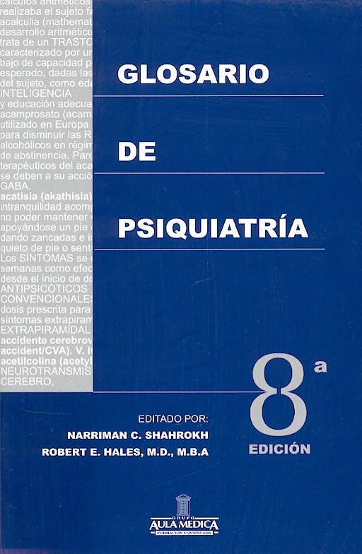Portada del libro 9788478853823 Glosario de Psiquiatria