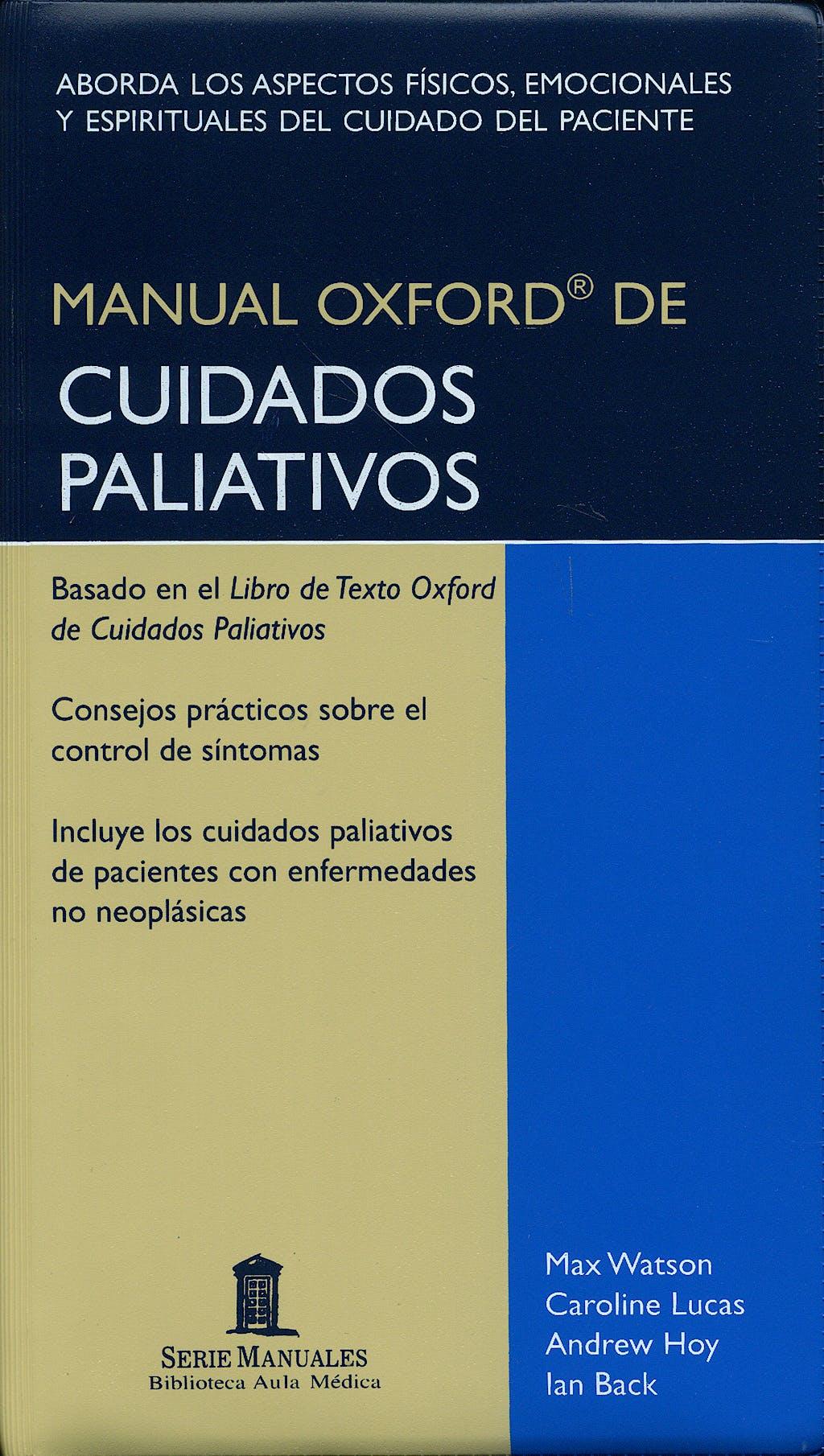 Portada del libro 9788478854486 Manual Oxford de Cuidados Paliativos