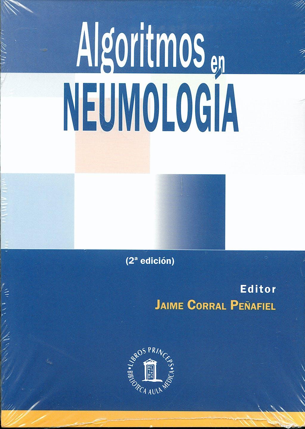 Portada del libro 9788478854776 Algoritmos en Neumología