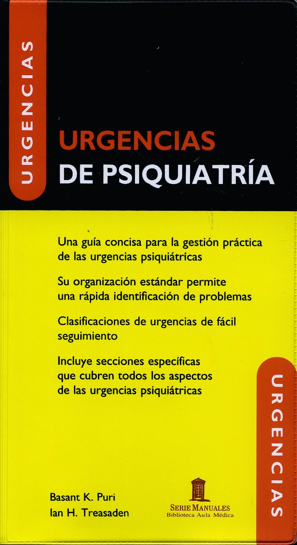 Portada del libro 9788478854998 Urgencias de Psiquiatria