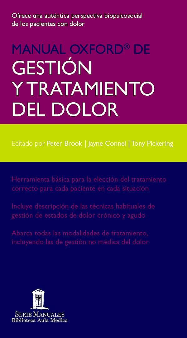 Portada del libro 9788478855667 Manual Oxford de Gestión y Tratamiento del Dolor