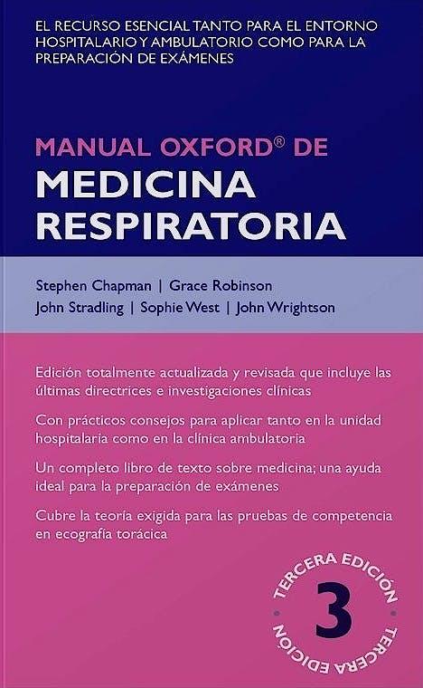 Portada del libro 9788478856008 Manual Oxford de Medicina Respiratoria