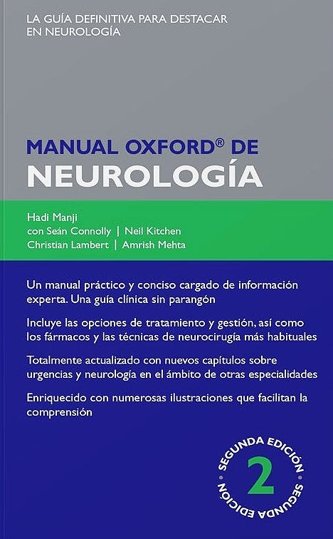 Portada del libro 9788478856015 Manual Oxford de Neurología