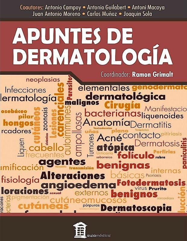 Portada del libro 9788478856206 Apuntes de Dermatología