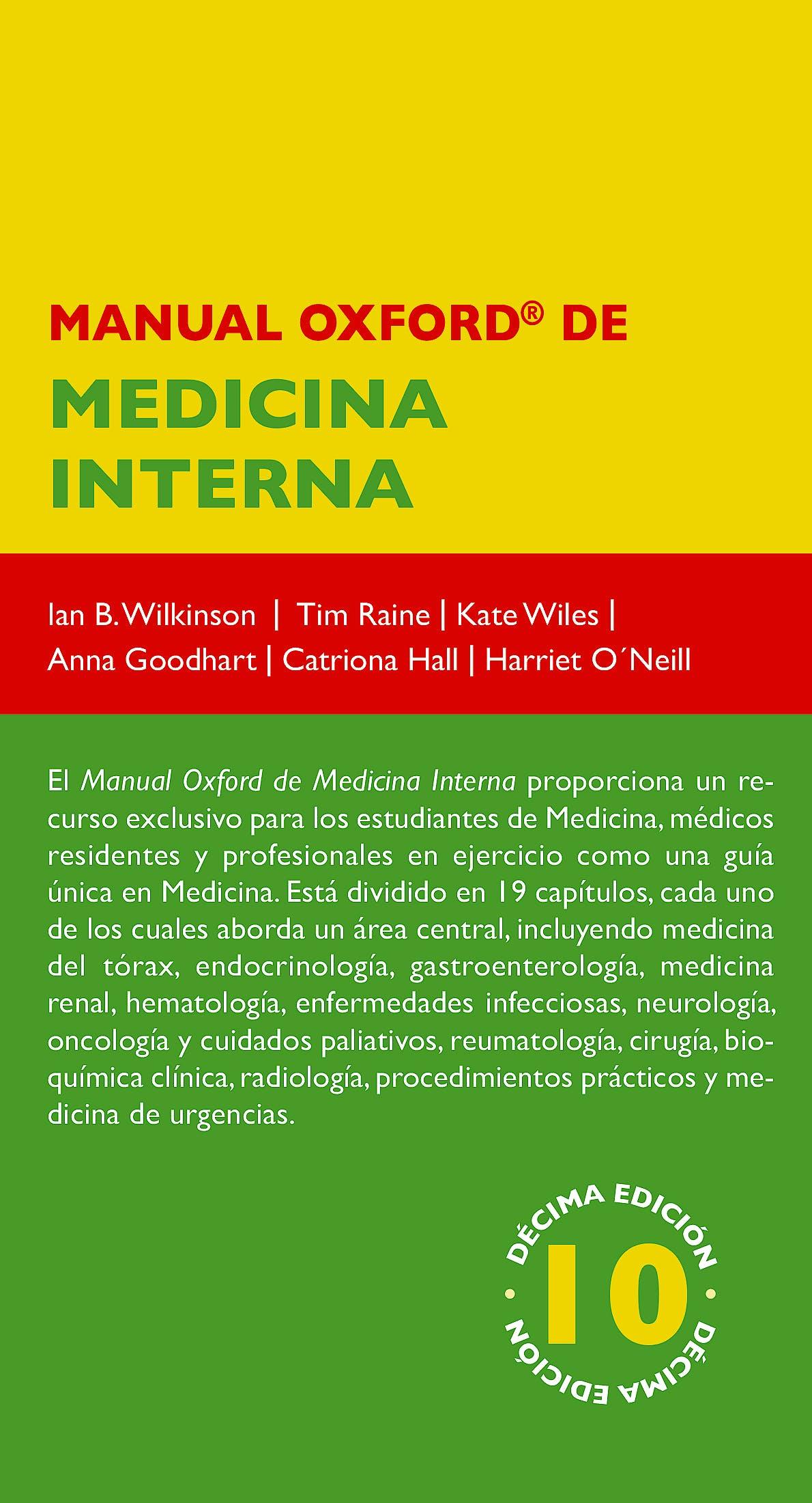 Portada del libro 9788478856312 Manual Oxford de Medicina Interna