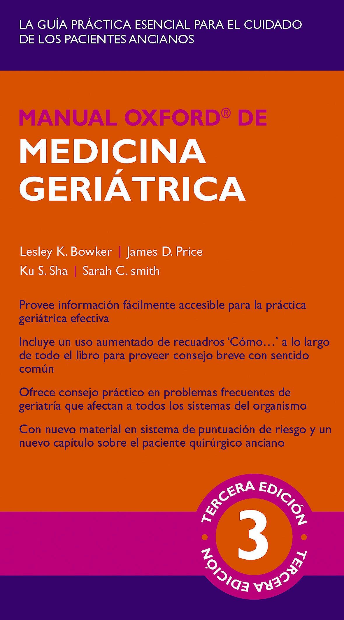 Portada del libro 9788478856596 Manual Oxford de Medicina Geriátrica