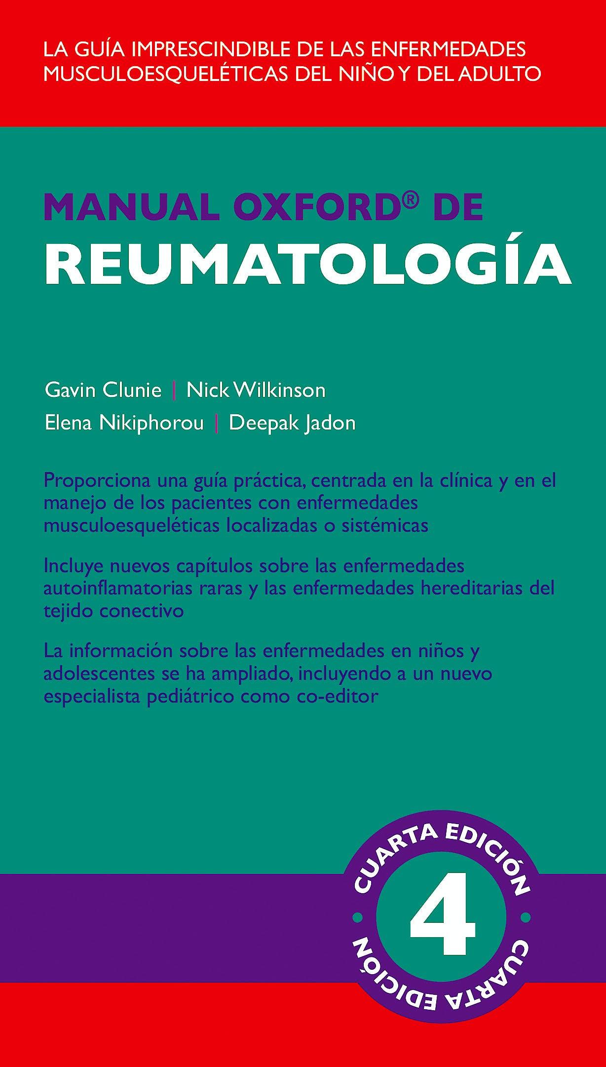 Portada del libro 9788478856602 Manual Oxford de Reumatología
