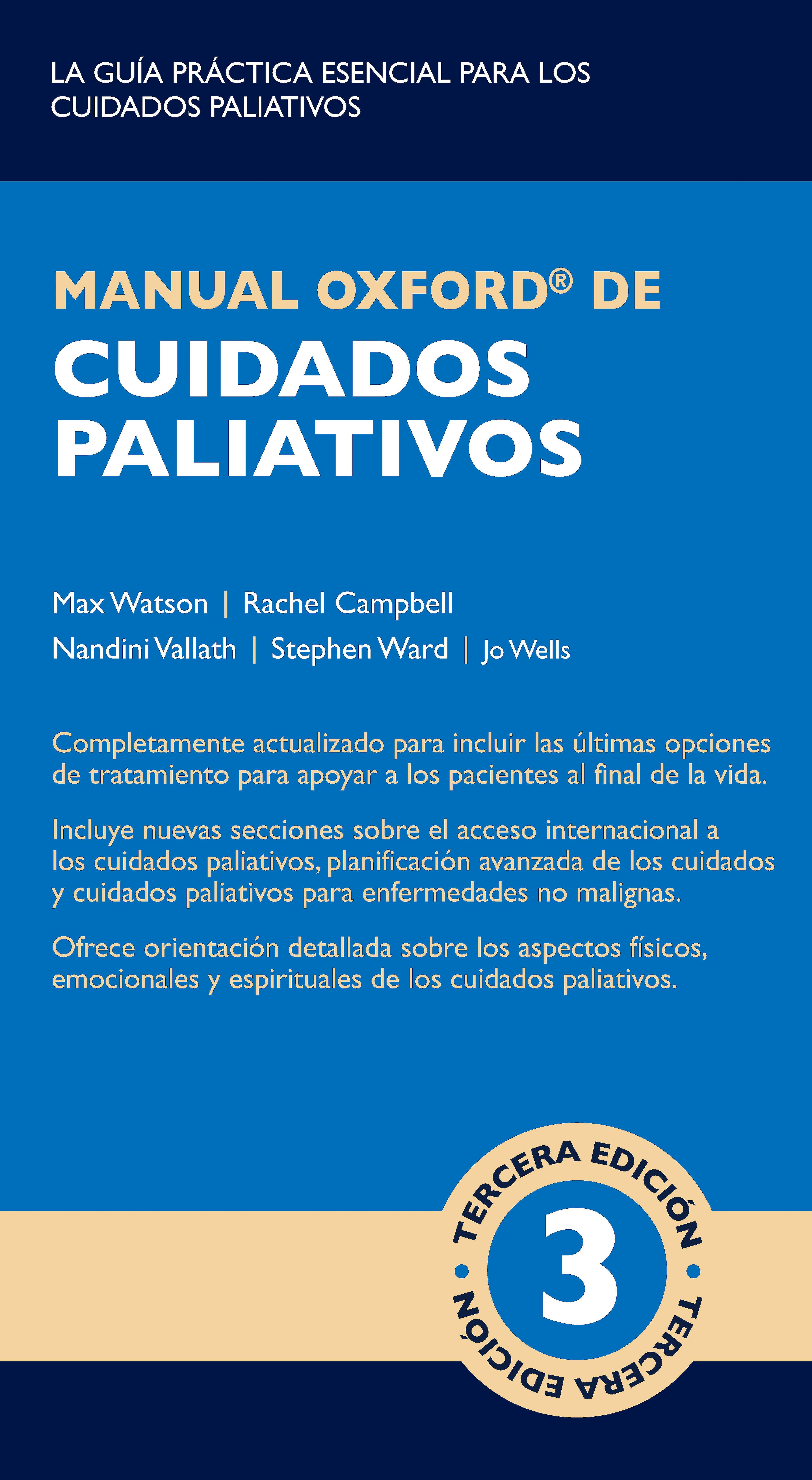 Portada del libro 9788478856695 Manual Oxford de Cuidados Paliativos