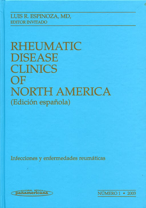 Portada del libro 9788479038229 Clinicas Reumatologia 2003 Nº 1: Infecciones y Enfermedades Reumaticas