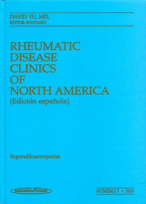 Portada del libro 9788479038243 Clinicas Reumatologia 2003 T3 Espondiloartropatias