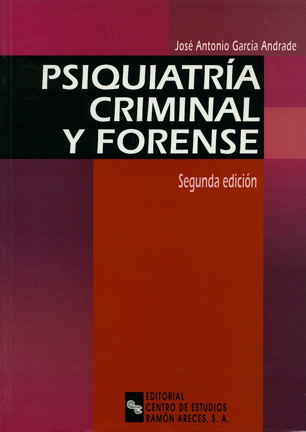 Portada del libro 9788480045100 Psiquiatria Criminal y Forense