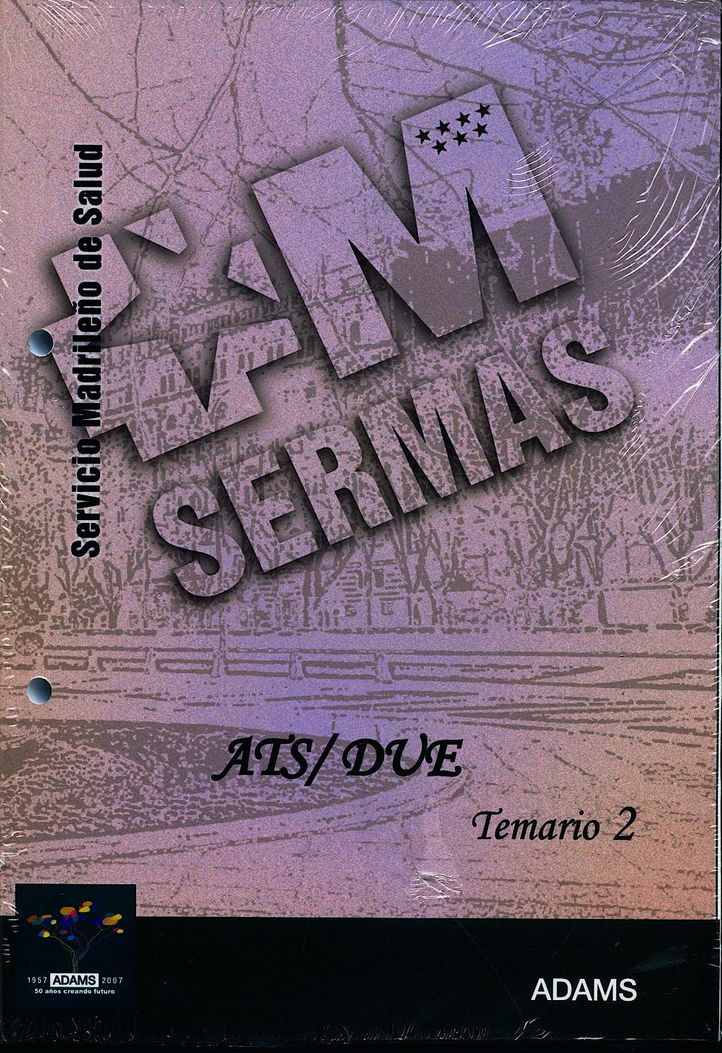 Portada del libro 9788480616218 Ats/due del Servicio de Salud de la Comunidad de Madrid (Sermas). Temario, Vol. 2