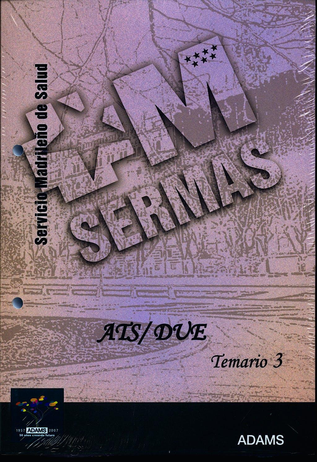 Portada del libro 9788480616560 Ats/due del Servicio de Salud de la Comunidad de Madrid (Sermas). Temario, Vol. 3