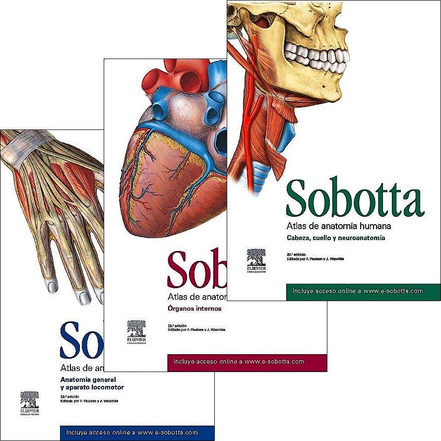 Producto: Lote Sobotta Atlas de Anatomía Humana, 3 Vols. + Acceso ...