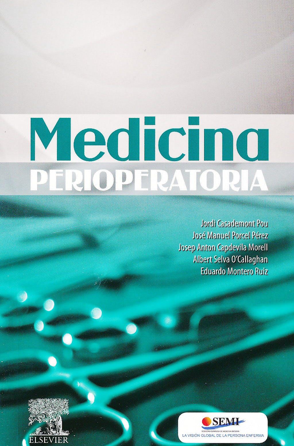 Portada del libro 9788480869362 Medicina Perioperatoria