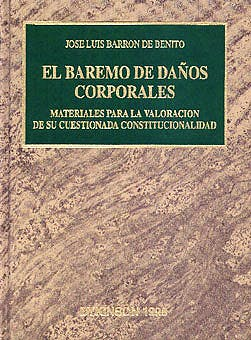 Portada del libro 9788481553062 El Baremo de Daños Corporales
