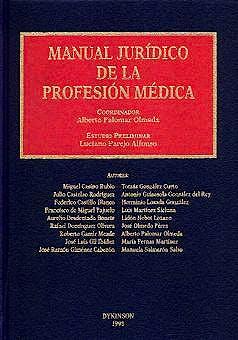 Portada del libro 9788481553611 Manual Juridico de la Profesion Medica