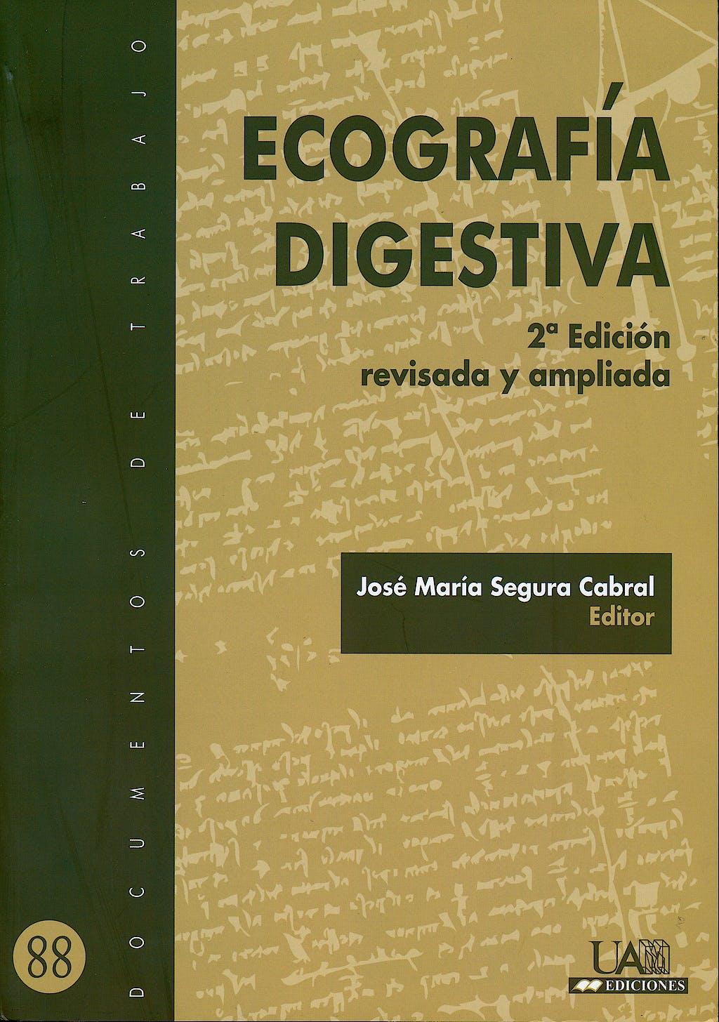Portada del libro 9788483441893 Ecografía Digestiva