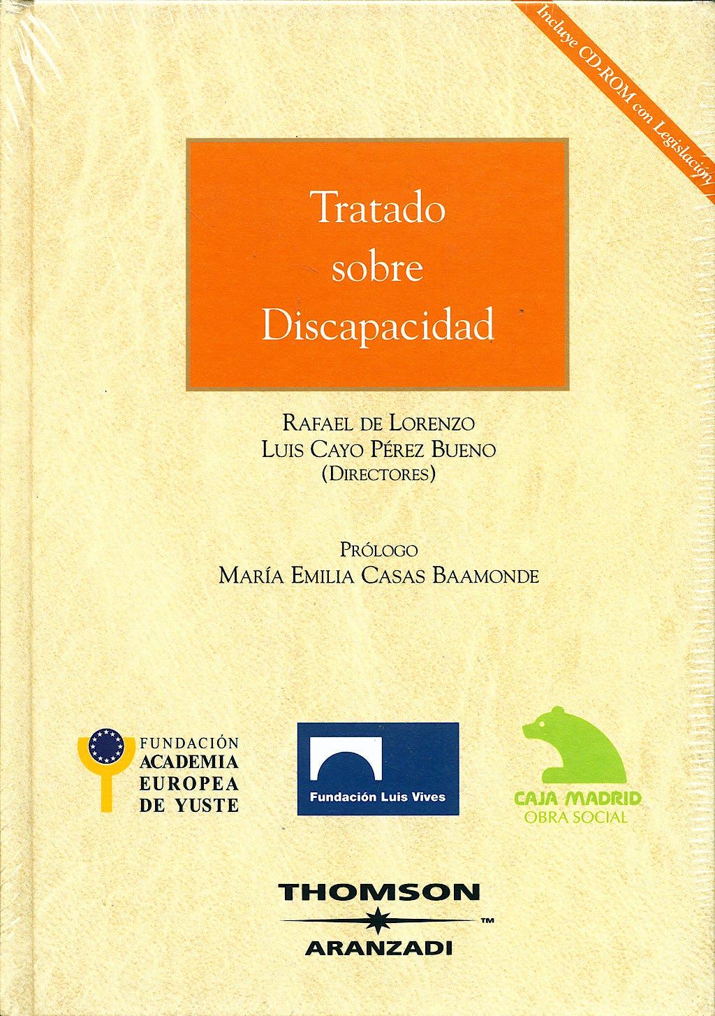 Portada del libro 9788483551387 Tratado sobre Discapacidad