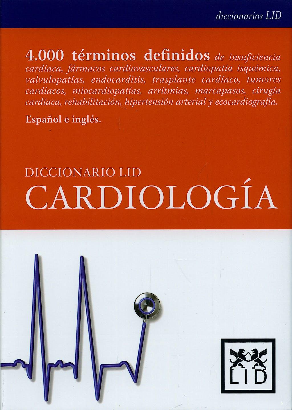 Portada del libro 9788483560457 Diccionario Lid Cardiologia