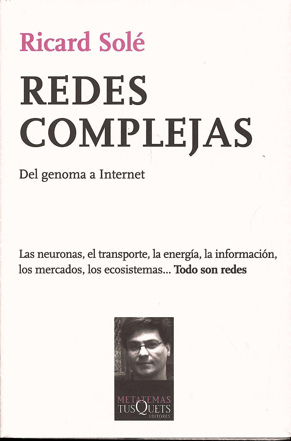 Portada del libro 9788483831175 Redes Complejas. del Genoma a Internet