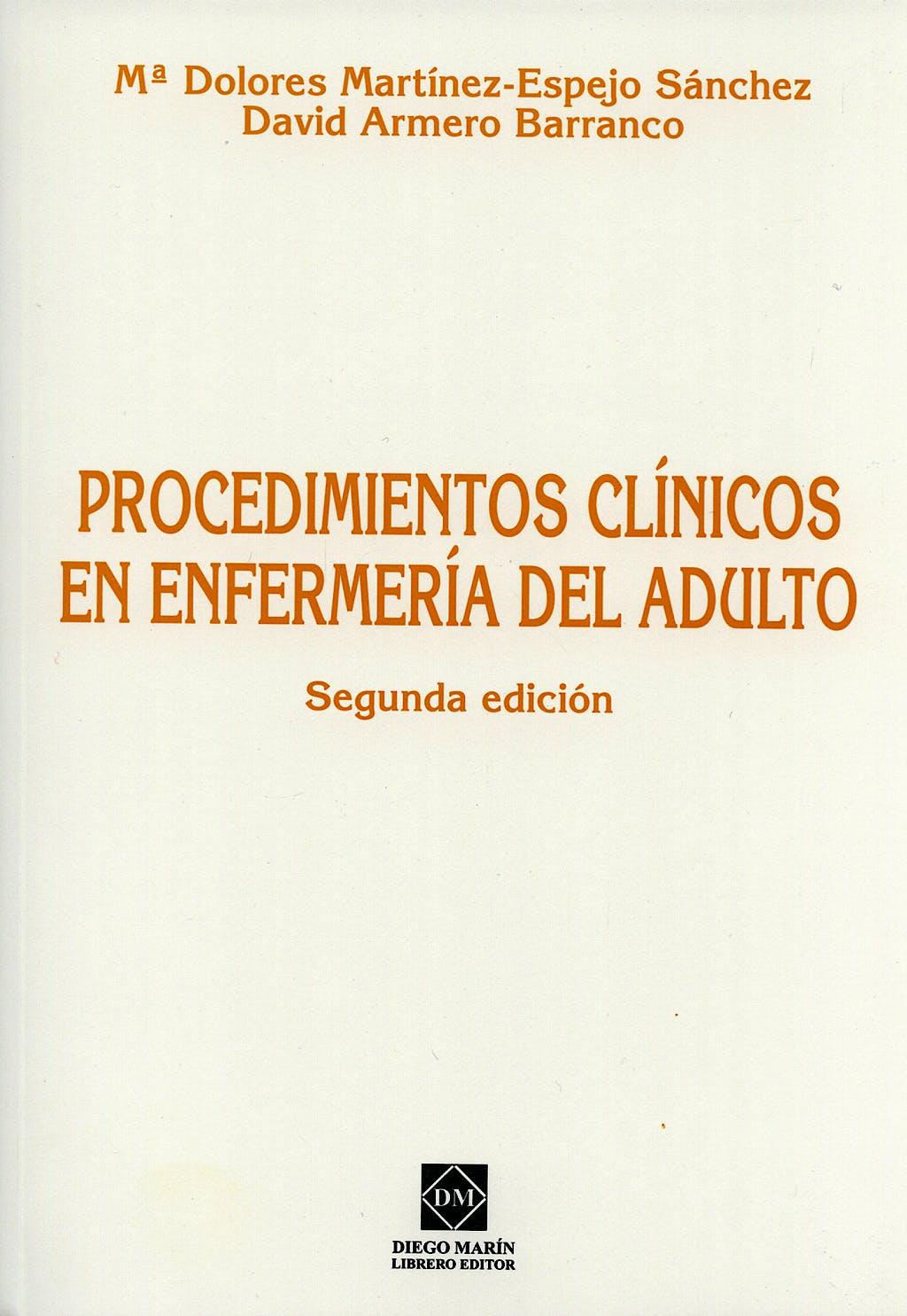 Portada del libro 9788484255215 Procedimientos Clinicos en Enfermeria del Adulto