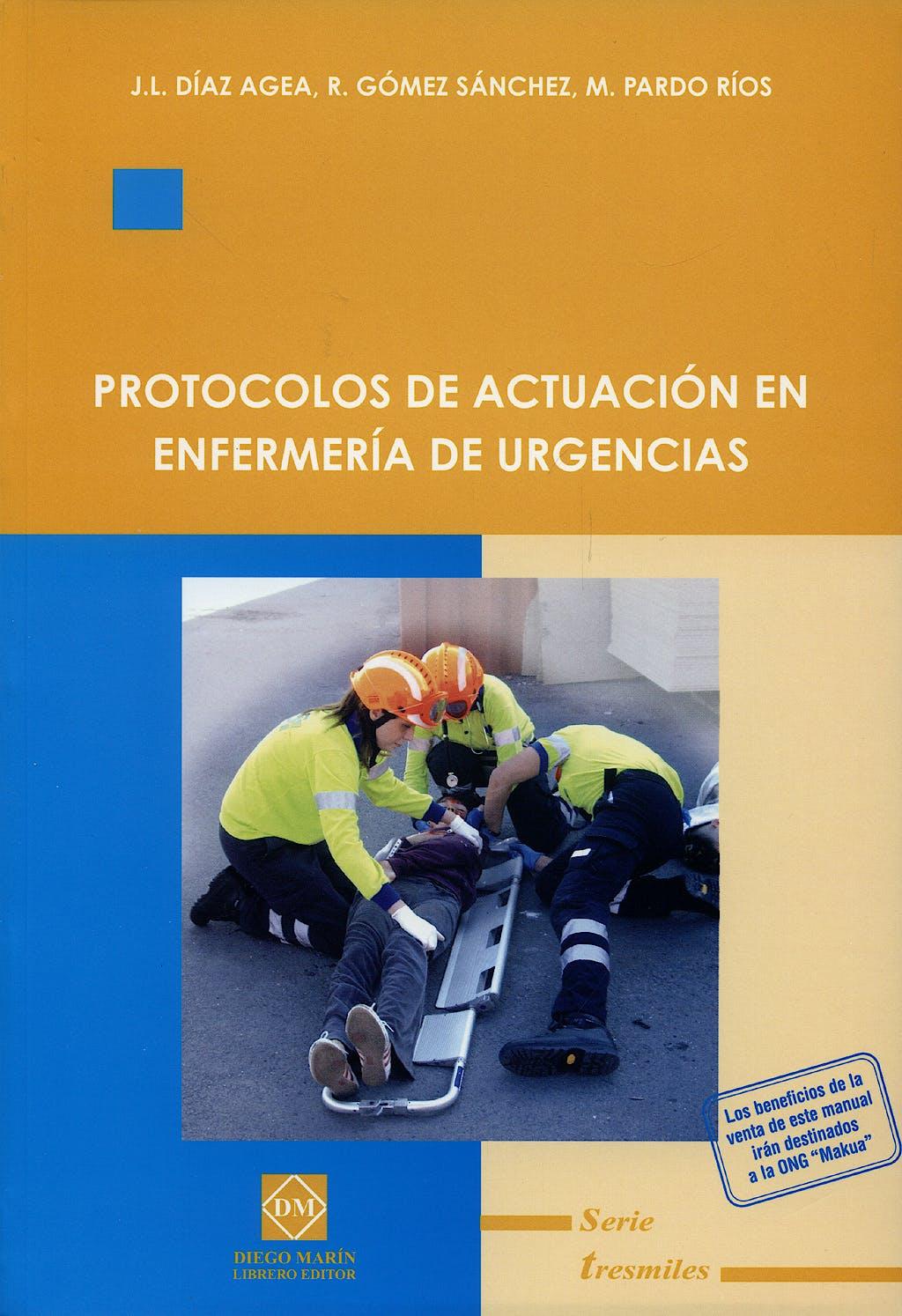 Portada del libro 9788484256199 Protocolos de Actuacion en Enfermeria de Urgencias