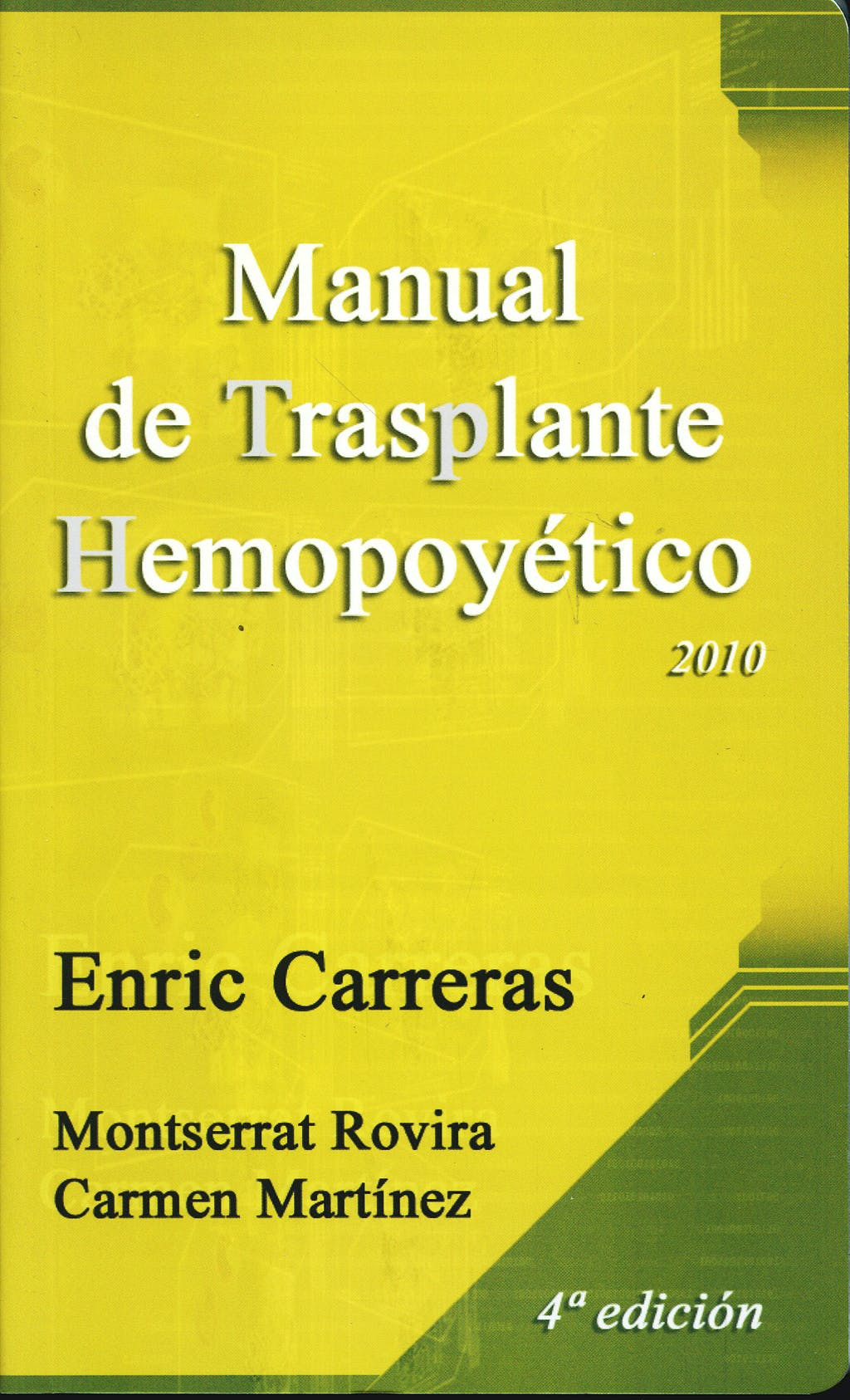 Portada del libro 9788488825056 Manual de Trasplante Hemopoyético 2010
