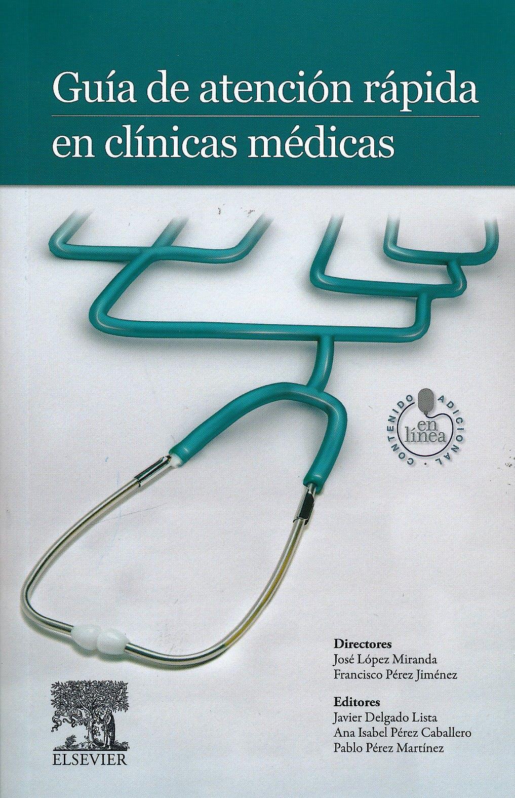 Portada del libro 9788490224144 Guía de Atención Rápida en Clínicas Médicas + Acceso Online