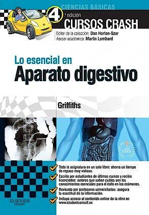 Portada del libro 9788490227282 Cursos Crash. Lo Esencial en Aparato Digestivo + Acceso Online