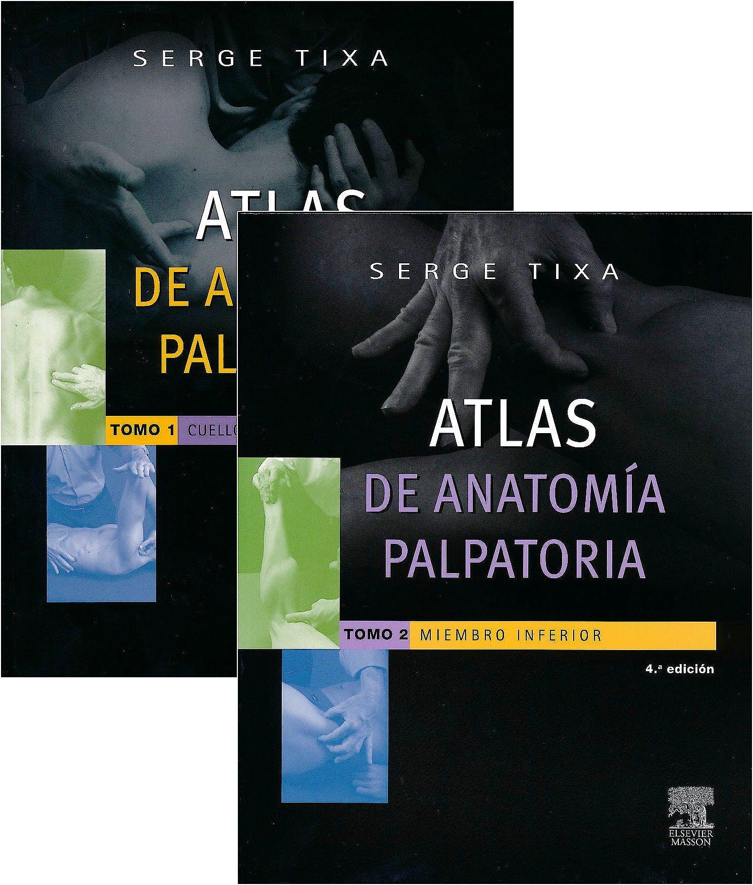 Portada del libro 9788490228401 Lote Atlas de Anatomía Palpatoria, 2 Vols. (Obra Completa)