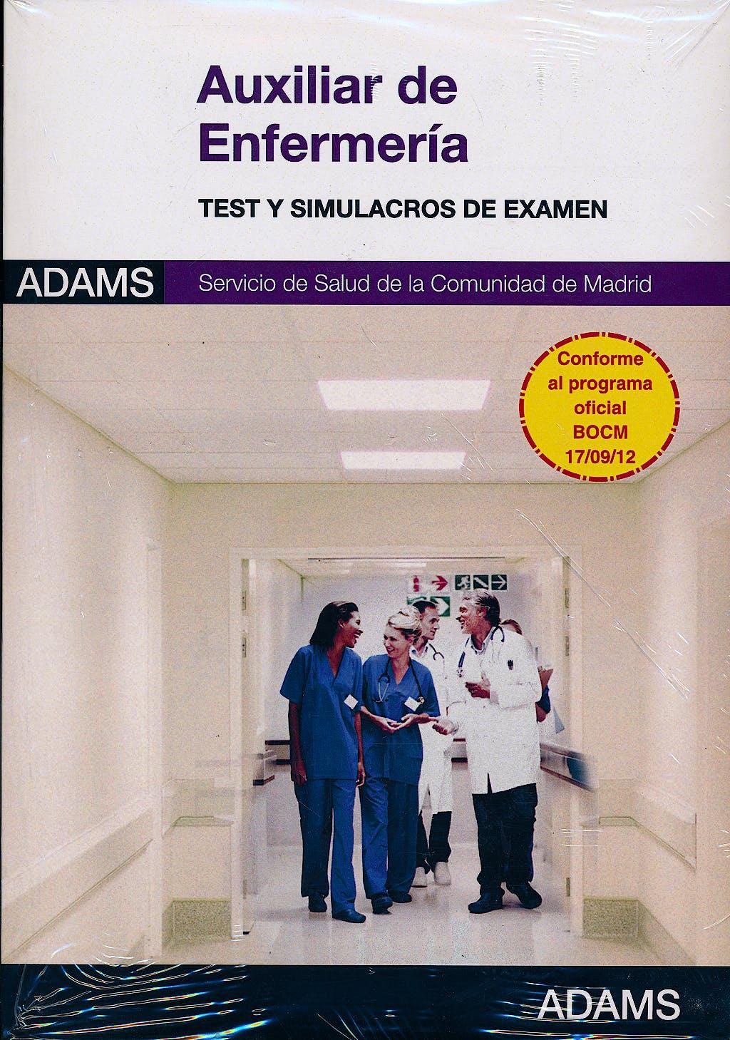 Portada del libro 9788490251935 Paquete Auxiliar de Enfermería Servicio Madrileño de Salud (SERMAS) (Incluye Temarios 1 y 2 + Tests y Simulacros de Examen)