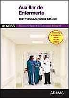 Portada del libro 9788490252000 Auxiliar de Enfermeria Servicio Madrileño de Salud (Sermas). Test y Simulacros de Examen