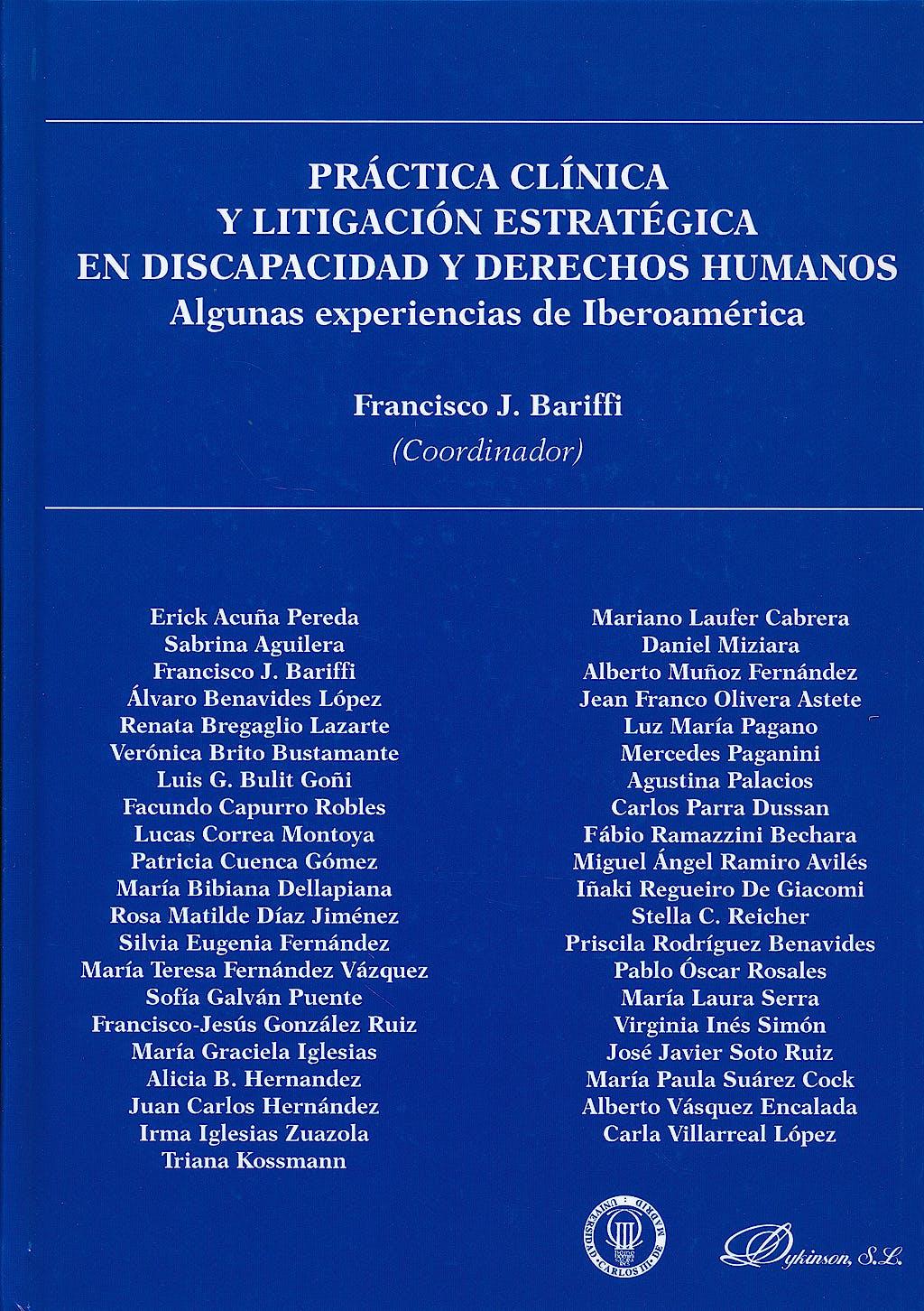 Portada del libro 9788490312759 Practica Clinica y Litigacion Estrategica en Discapacidad y Derechos Humanos