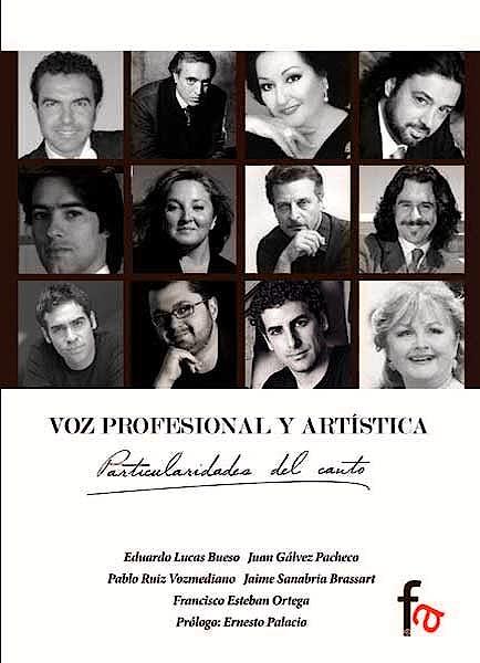Portada del libro 9788490516225 Voz Profesional y Artistica. Particularidades del Canto