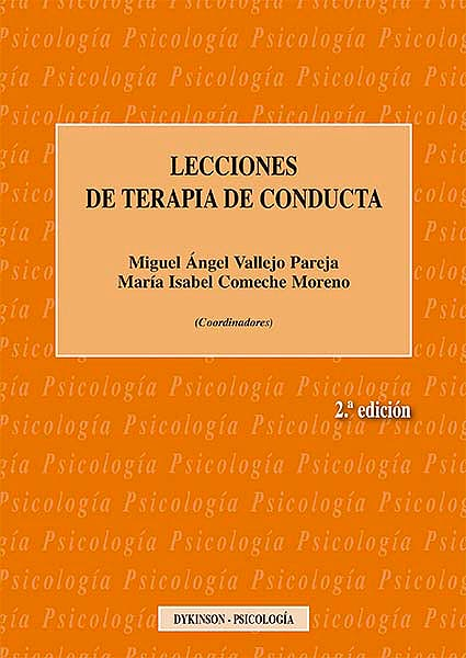 Portada del libro 9788490857595 Lecciones de Terapia de Conducta