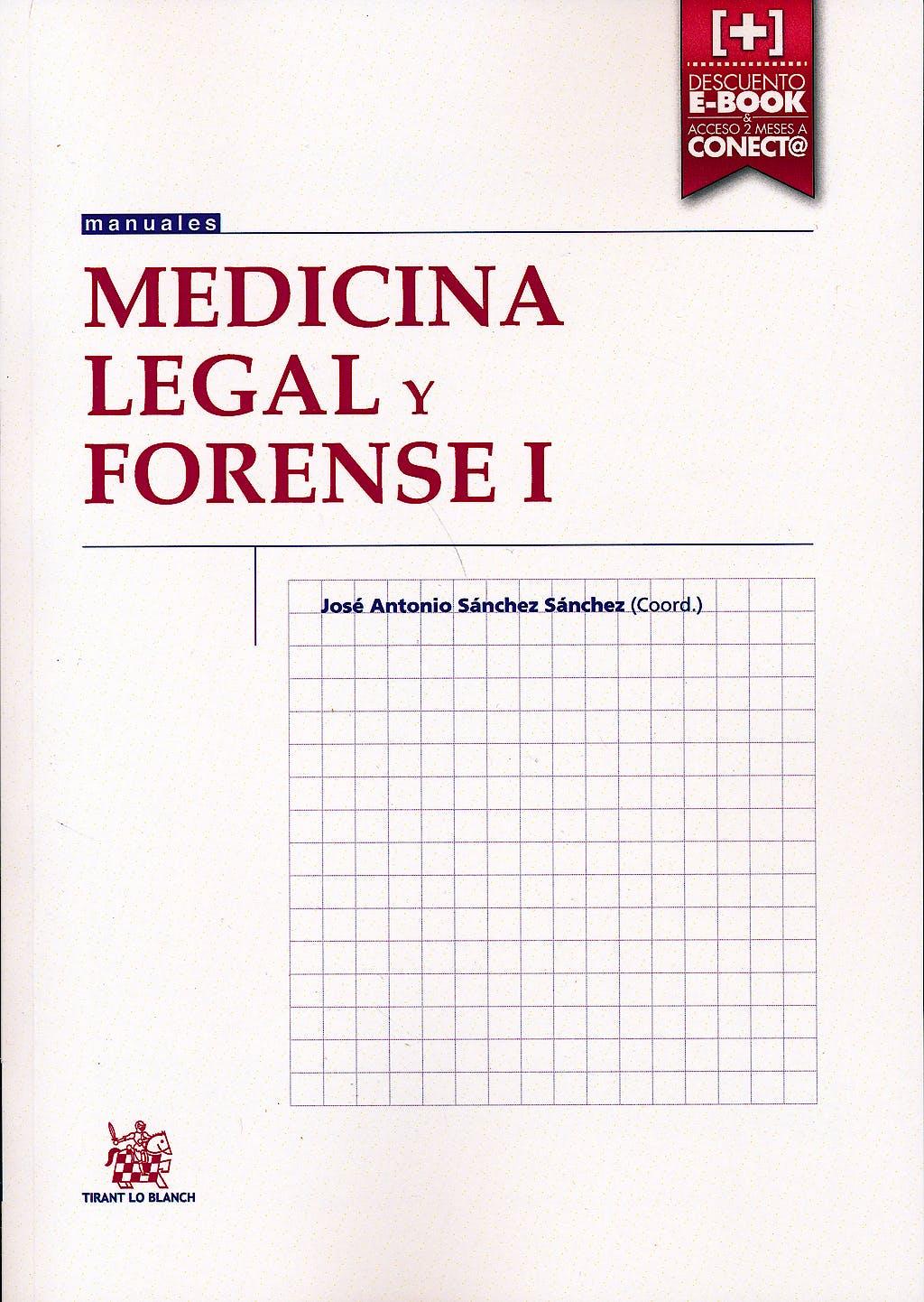 Portada del libro 9788490861530 Medicina Legal y Forense I
