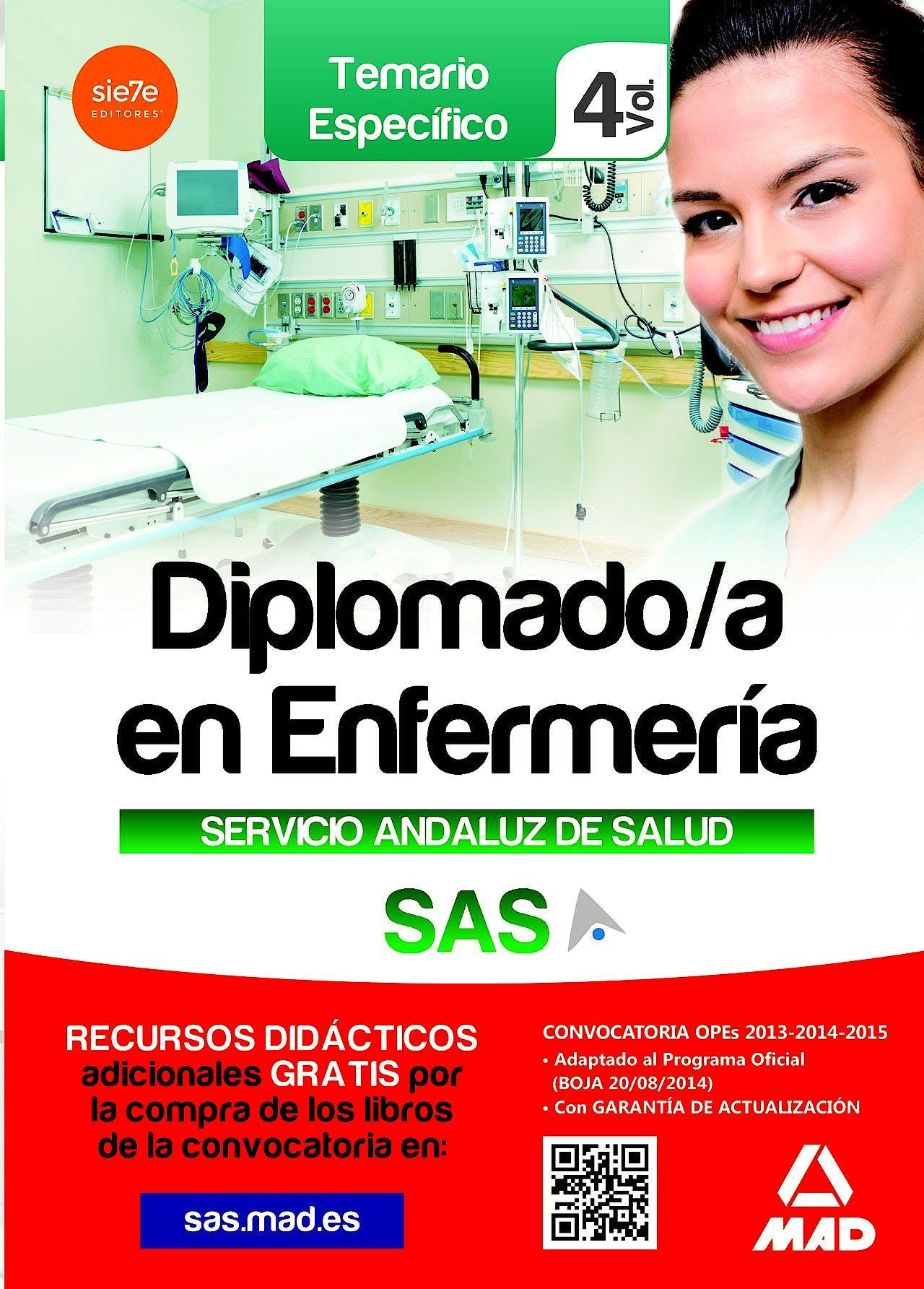 Portada del libro 9788490930120 Diplomado/a en Enfermería Servicio Andaluz de Salud (SAS). Temario Específico, Vol. 4