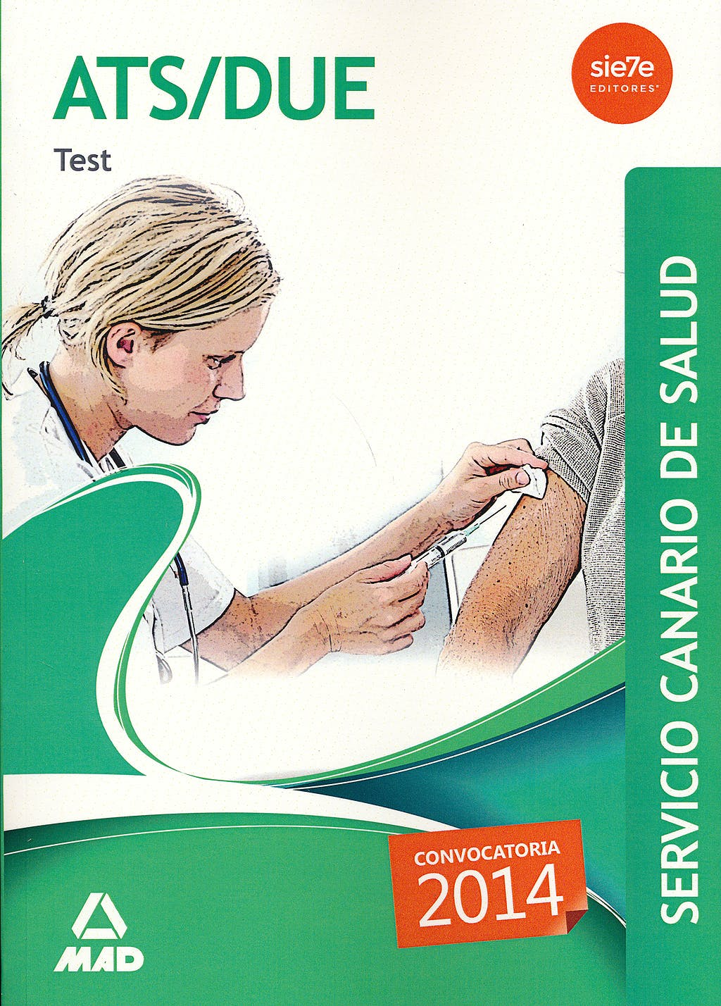 Portada del libro 9788490931837 Ats/due Servicio Canario de Salud (Scs). Test
