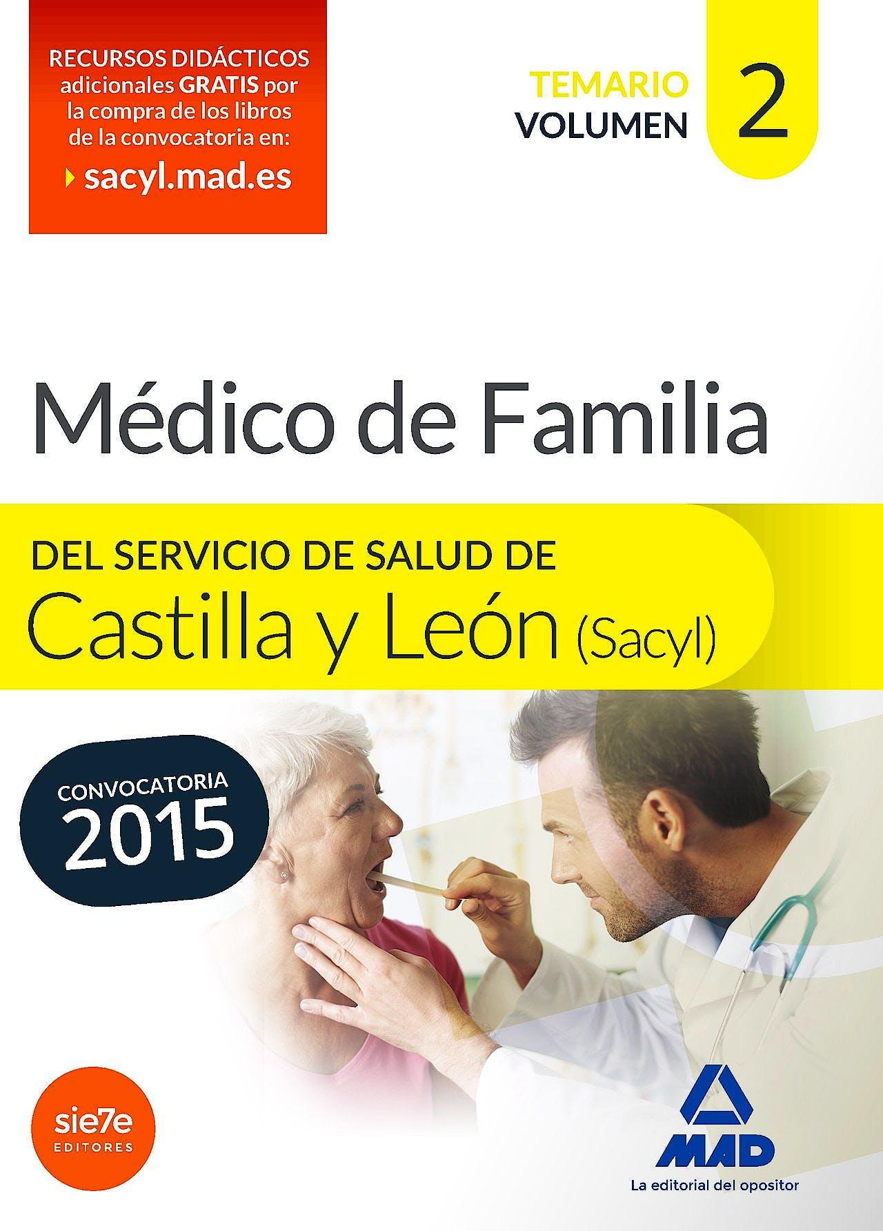 Portada del libro 9788490933992 Medico de Familia del Servicio de Salud de Castilla y Leon (Sacyl). Temario, Vol. 2