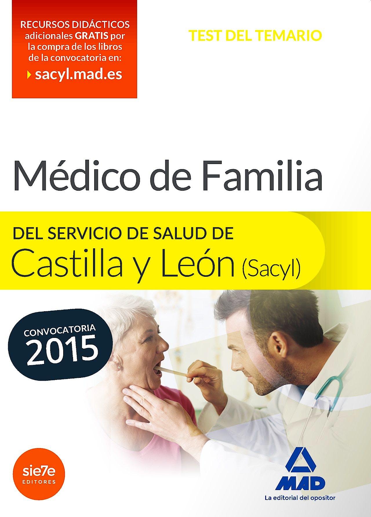Portada del libro 9788490934524 Medico de Familia del Servicio de Salud de Castilla y Leon (Sacyl). Test
