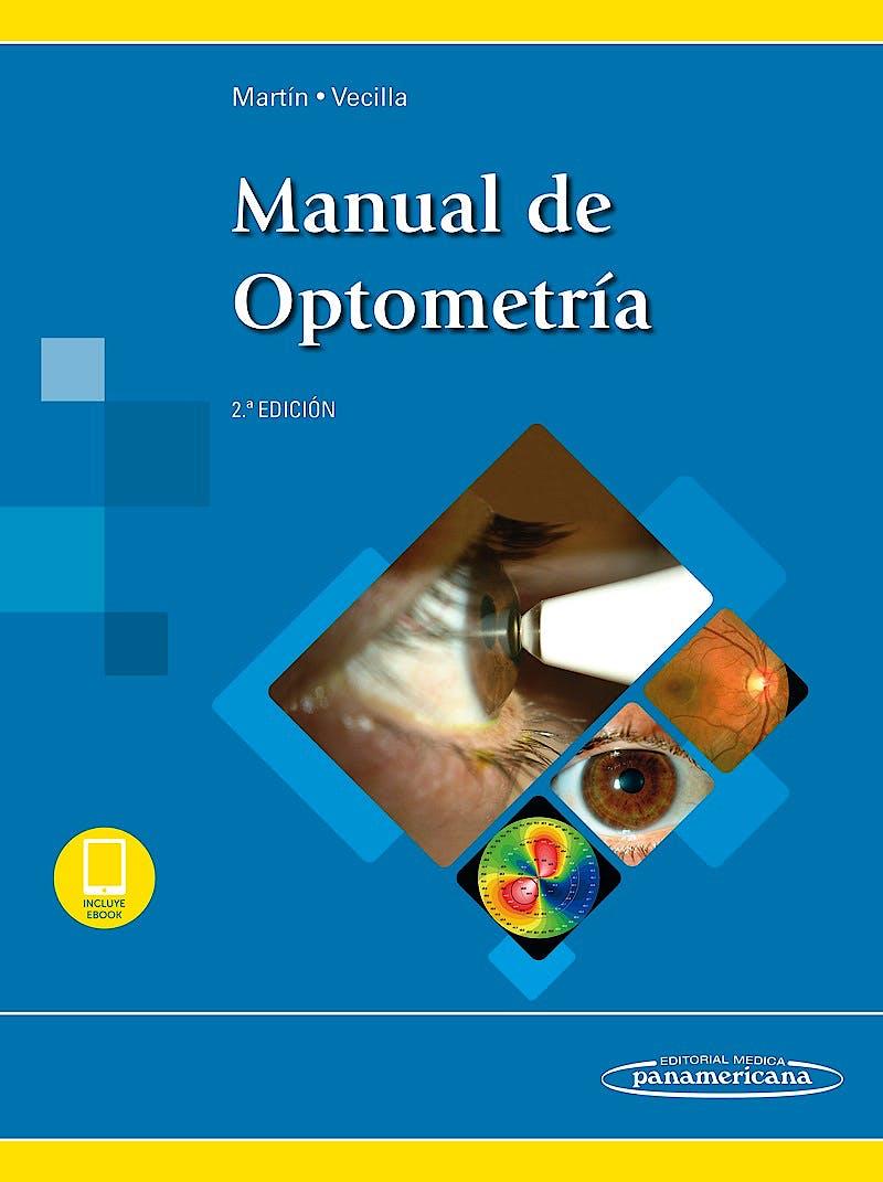 Portada del libro 9788491102489 Manual de Optometría (Incluye E-Book)