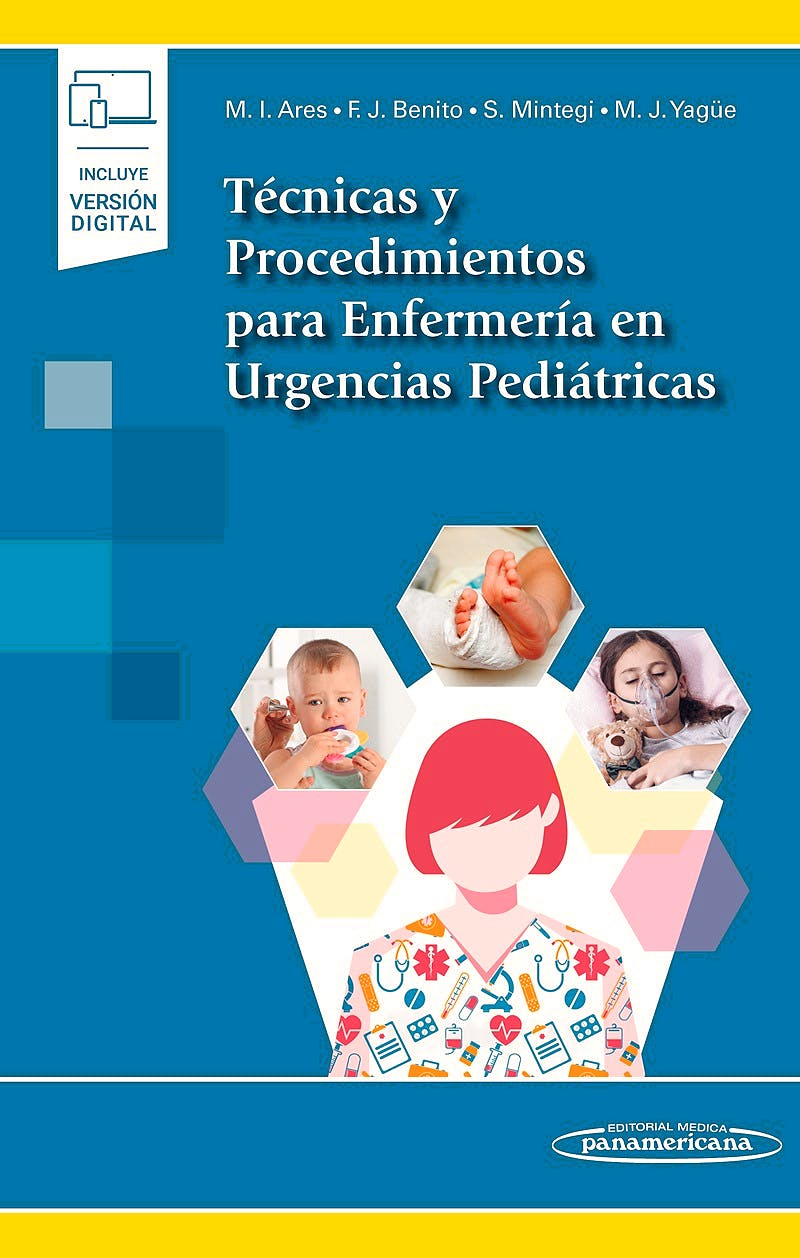 Portada del libro 9788491103011 Técnicas y Procedimientos para Enfermería en Urgencias Pediátricas (Incluye Versión Digital)
