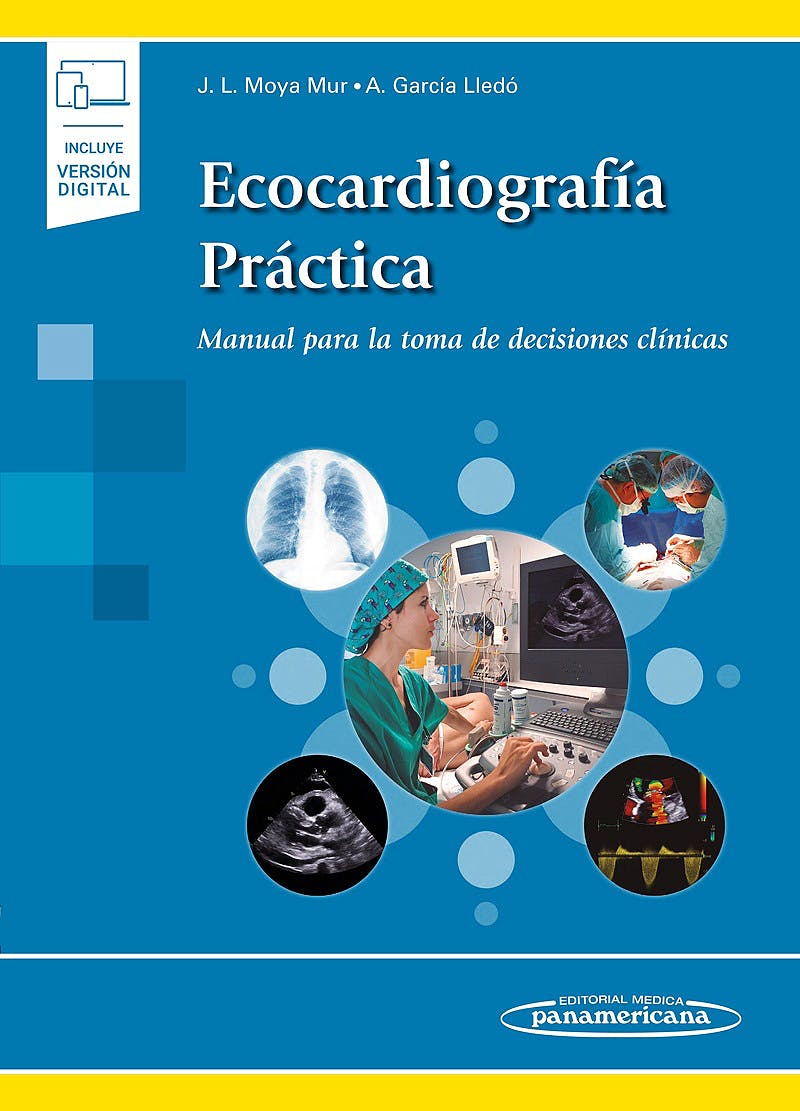 Portada del libro 9788491103868 Ecocardiografía Práctica. Manual para la Toma de Decisiones Clínicas (Incluye Versión Digital)