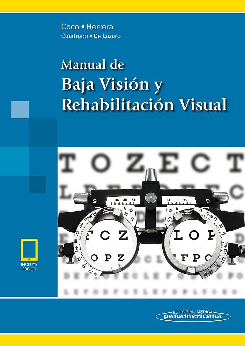 Portada del libro 9788491104322 Manual de Baja Visión y Rehabilitación Visual (incluye E-Book)