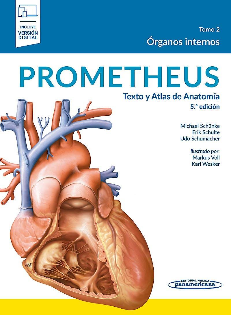 Portada del libro 9788491106241 PROMETHEUS Texto y Atlas de Anatomía, Tomo 2: Órganos Internos (Incluye Versión Electrónica)